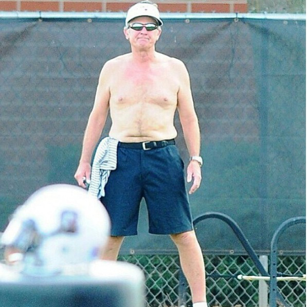 spurrier shirtless